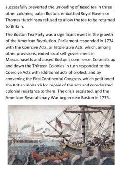 The Boston Tea Party Handout