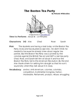 The Boston Tea Party - Historical Small Group Reader's Theater