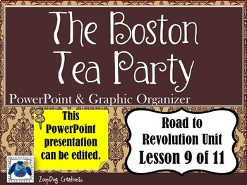 Boston Tea Party PowerPoint and Graphic Organizer