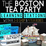 The Boston Tea Party Reading Passage Learning Stations and