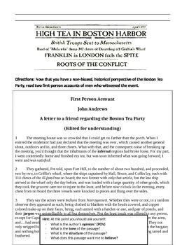 The Boston Tea Party - Teaching Point of View
