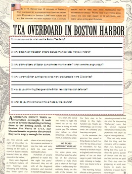 The Boston Tea Party and The Beginnings of the American Revolution