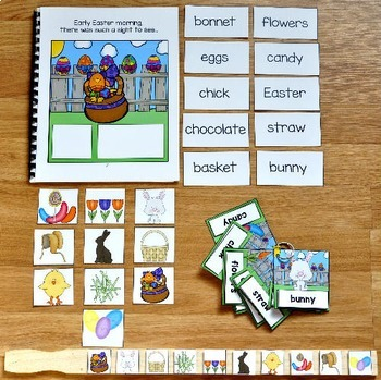 """Bunny Adapted Book and Vocabulary Activities--""""The Bouncy Bouncy Bunny"""""""