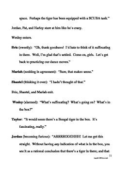 The Box Elementary Play Script on Rumors Drama Club Readers Theater