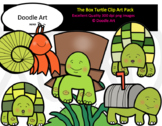 The Box Turtle Clip Art Pack