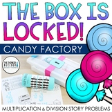 """The Box is Locked! Math Challenge """"Candy Factory"""" {Multiplication & Division}"""