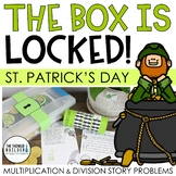 The Box is Locked! St. Patrick's Day Math Challenge {Multiplication & Division}