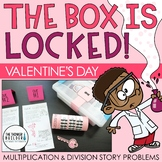 The Box is Locked! Valentine's Day Math Challenge {Multiplication & Division}