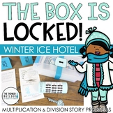 The Box is Locked! Winter Math Challenge {Multiplication & Division}