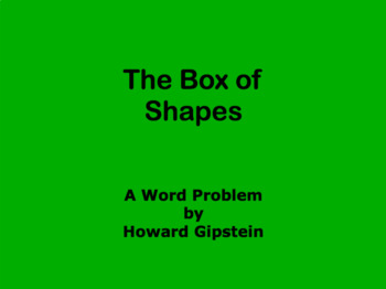 The Box of Shapes