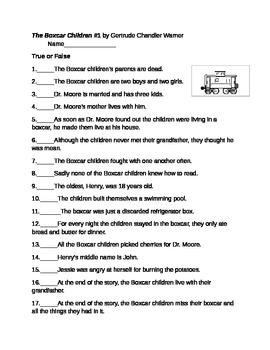 The Boxcar Children #1 by Gertrude Chandler Warner Test