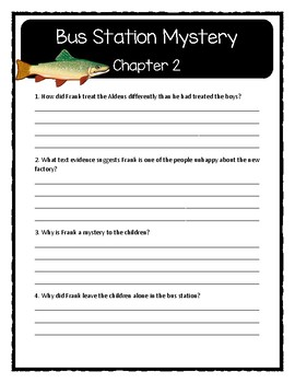 The Boxcar Children BUS STATION MYSTERY - Comprehension & Text Evidence