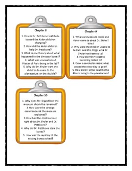 The Boxcar Children DINOSAUR MYSTERY - Discussion Cards
