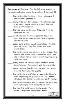 The Boxcar Children (Gertrude Chandler Warner) Novel Study / Comprehension