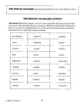 The Boxcar Children Literature Activity Guide