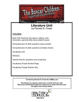 The Boxcar Children Literature Unit or for Book Club