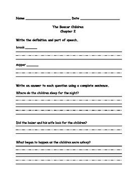 The Boxcar Children Mini Comprehension Unit