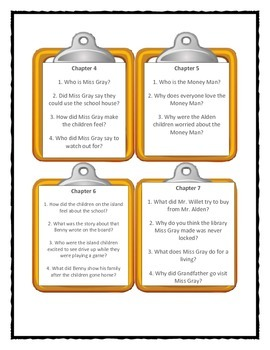 The Boxcar Children SCHOOLHOUSE MYSTERY - Discussion Cards