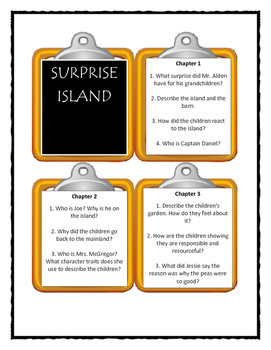 The Boxcar Children SURPRISE ISLAND - Discussion Cards