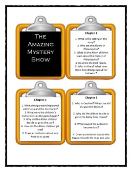 The Boxcar Children THE AMAZING MYSTERY SHOW * Discussion Cards