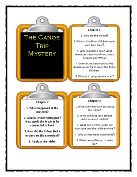 The Boxcar Children THE CANOE TRIP MYSTERY - Discussion Cards