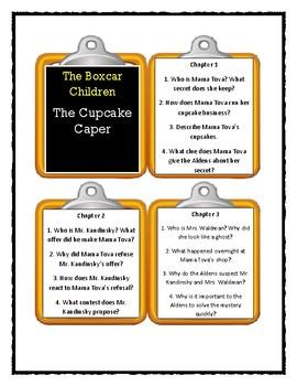 The Boxcar Children THE CUPCAKE CAPER * Discussion Cards