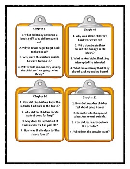 The Boxcar Children THE DESERTED LIBRARY MYSTERY - Discussion Cards