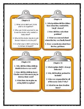 The Boxcar Children THE DISAPPEARING FRIEND MYSTERY - Discussion Cards
