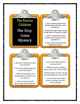 The Boxcar Children THE DOG-GONE MYSTERY - Discussion Cards