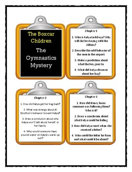 The Boxcar Children THE GYMNASTICS MYSTERY - Discussion Cards