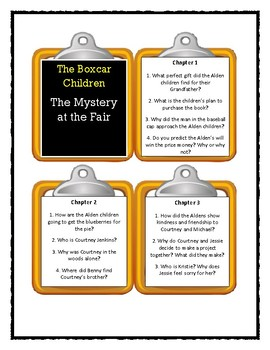 The Boxcar Children THE MYSTERY AT THE FAIR - Discussion Cards