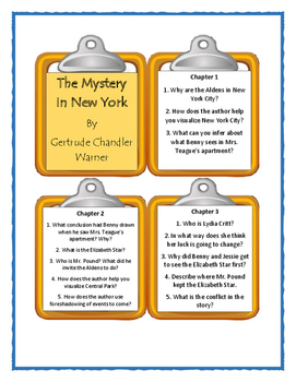 The Boxcar Children THE MYSTERY IN NEW YORK - Discussion Cards
