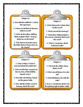 The Boxcar Children THE MYSTERY OF THE HIDDEN BEACH - Discussion Cards