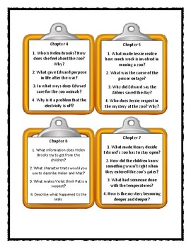 The Boxcar Children THE MYSTERY OF THE MIXED-UP ZOO - Discussion Cards