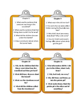 The Boxcar Children THE WOODSHED MYSTERY - Discussion Cards