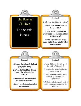 The Boxcar Children THE SEATTLE PUZZLE - Discussion Cards