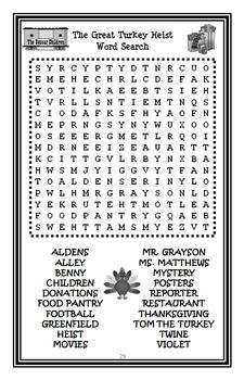 The Boxcar Children: The Great Turkey Heist (Chandler Warner) Novel Study