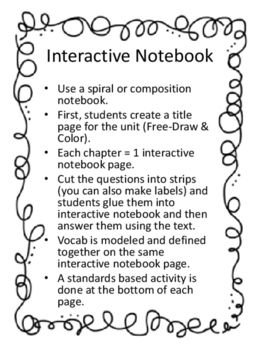 The Boxcar Children Unit for Interactive Notebooks - Standards Based!!