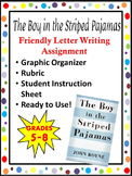The Boy In The Striped Pajamas- Friendly Letter Writing Assignment