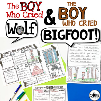 The Boy Who Cried Wolf Bigfoot: Compare Contrast Read-Aloud Lesson Plans