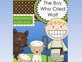 The Boy Who Cried Wolf Adding/Subtracting Sheets (10) w/ manipulative pieces