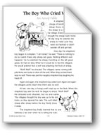The Boy Who Cried Wolf (An Aesop Fable)