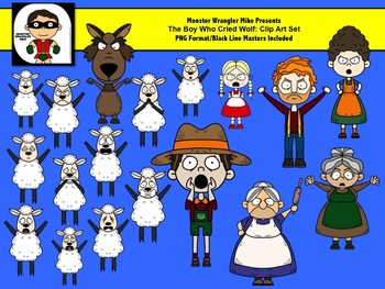Boy Who Cried Wolf Clip Art Collection