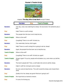 The Boy Who Cried Wolf Worksheets & Teaching Resources   TpT