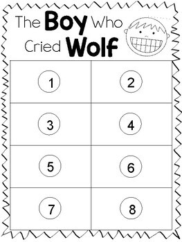 The Boy Who Cried Wolf Activity Sheets