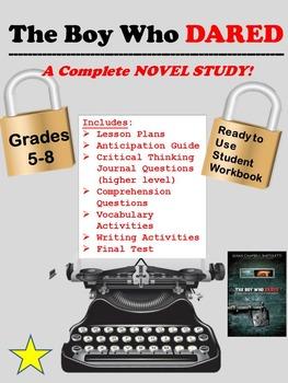 The Boy Who Dared Novel Study
