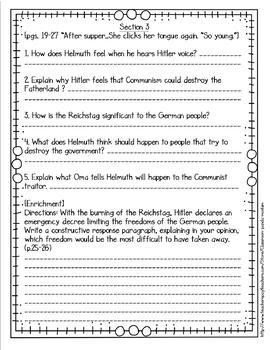 The Boy Who Dared Novel Study (FREE Task Cards Included)