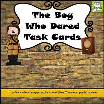 The Boy Who Dared Task Cards