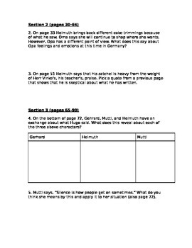 The Boy Who Dared section 1-3 quiz (pgs. 1-90)