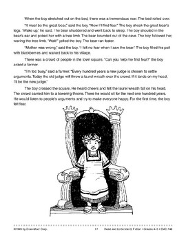 The Boy Who Didn't Know Fear: Adapted Folk Tale